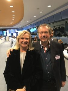 Prof. Jens Michow with Barbara Gessler Head-of-Creative-Europe-EU-Commission